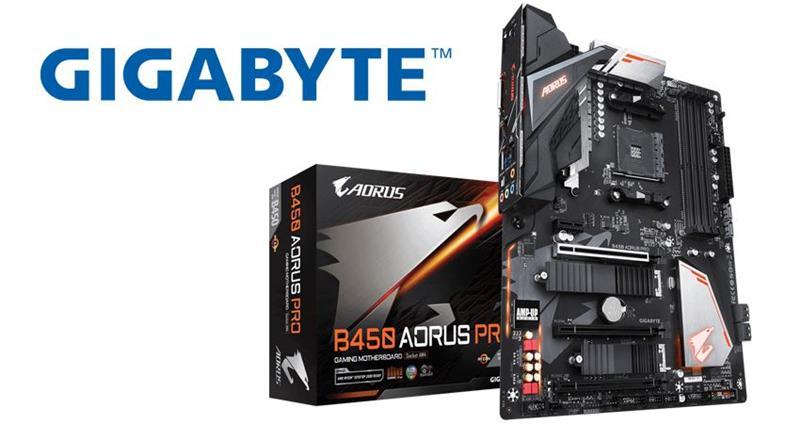 Gigabyte presenta tres placas madre AORUS con el chipset B450