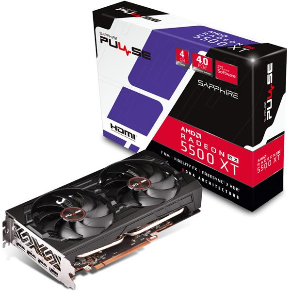 PLACA DE VIDEO SAPPHIRE PULSE RX 5500 XT 4GB GDDR6