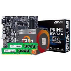 Combo AMD Ryzen 2200G - B350 - 2x4GB