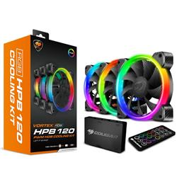 Fan Cougar Vortex HPB 120 RGB Kit x 3