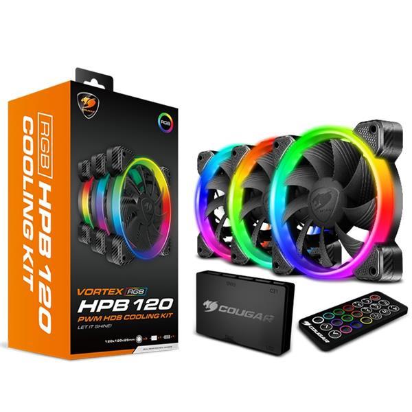 Fan Cougar Vortex HPB 120 RGB Kit x 3
