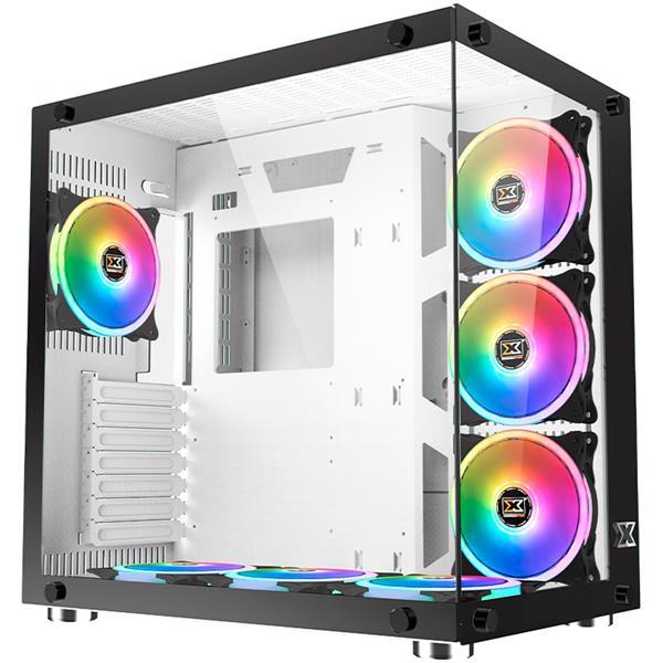 Gabinete Xigmatek Aquarius White 7x cooler Argb