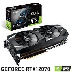 Placa de Video Asus Nvidia Geforce RTX 2070 DUAL 8Gb Ddr6
