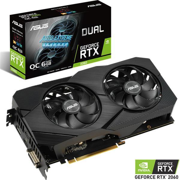 Placa de Video Asus Nvidia Geforce RTX 2060 DUAL EVO 6GB