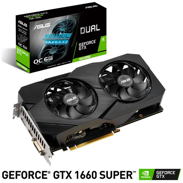 Placa de Video Asus GTX 1660 SUPER DUAL EVO OC 6GB