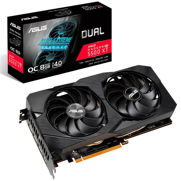 Placa de Video Asus RX 5500 XT Dual EVO OC 8GB GDDR6