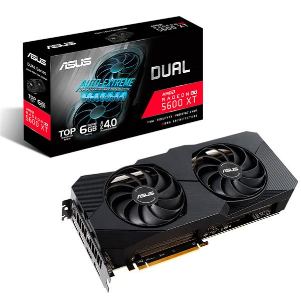 Placa de Video Asus RX 5600 XT Dual EVO T6G Gaming
