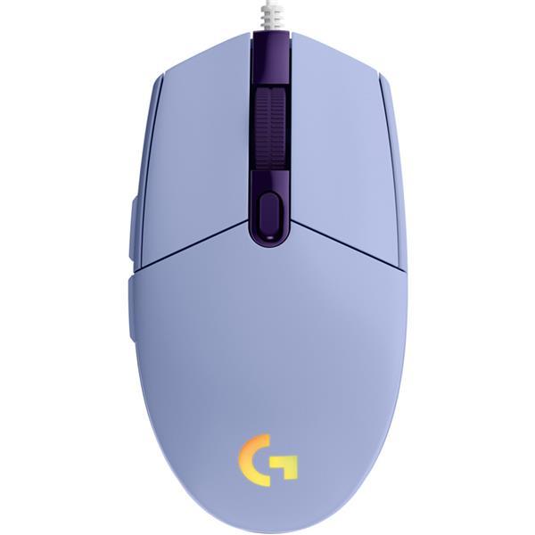 Mouse Logitech G203 Lightsync Lila