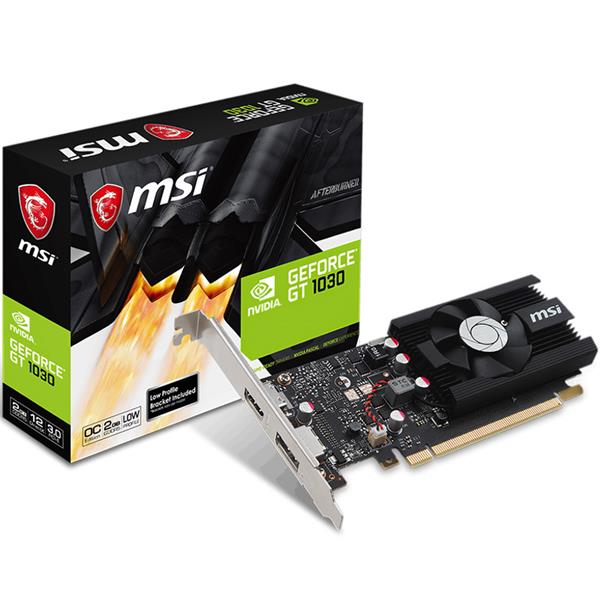 Placa de Video MSI GT 1030 LP 2GB OC GDDR5