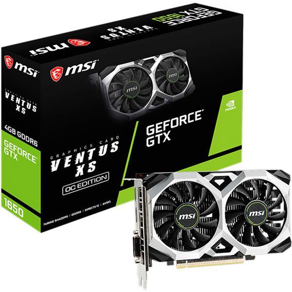 Placa de Video MSI Nvidia Geforce GTX 1650 D6 Ventus Xs OC 4GB GDDR6