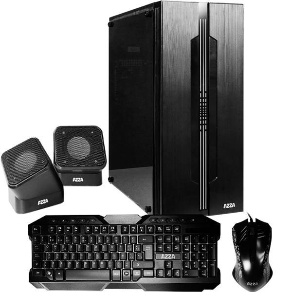 Gabinete Kit Gamer AZZA Fortaleza c/fuente 350w Mouse+Teclado+Parlantes