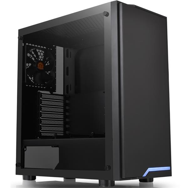 Gabinete Thermaltake H100 TG Tempered Glass Negro - LED