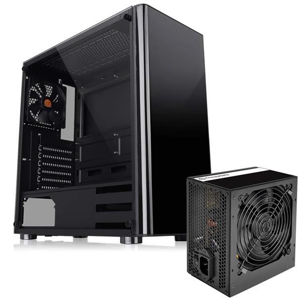 Gabinete Thermaltake V200 TG + Fuente 500W TT C/Fan