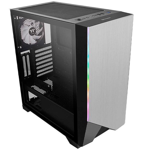 Gabinete Thermal TT H550 Black Tempered Glass RGB