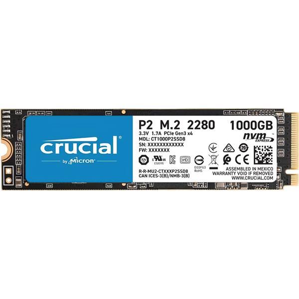 Disco Solido SSD 1TB Crucial P2 M.2 NVMe PCIe x4 3.0
