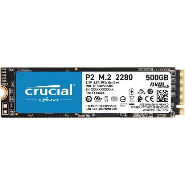 Disco Solido SSD 500GB Crucial P2 M.2 NVMe PCIe x4 3.0