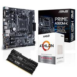 Combo AMD Athlon 200GE - A320 - 2x4GB