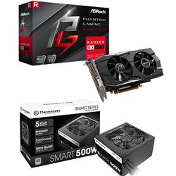 Kit RX 570 4GB PHANTOM + Fuente 500W 80 Plus