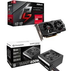 Kit RX 570 4GB PHANTOM + Fuente 600W 80 Plus