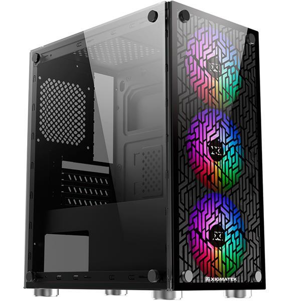 Gabinete Xigmatek NYX 3F Rainbow Fix Fan Version