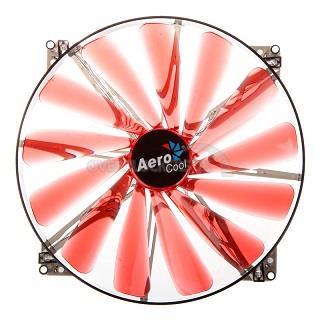 Fan Aerocool Lightning 200mm Red LED