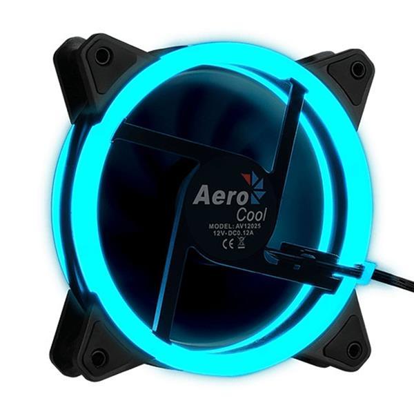 FAN AEROCOOL REV BLUE 120MM (DUAL RING)