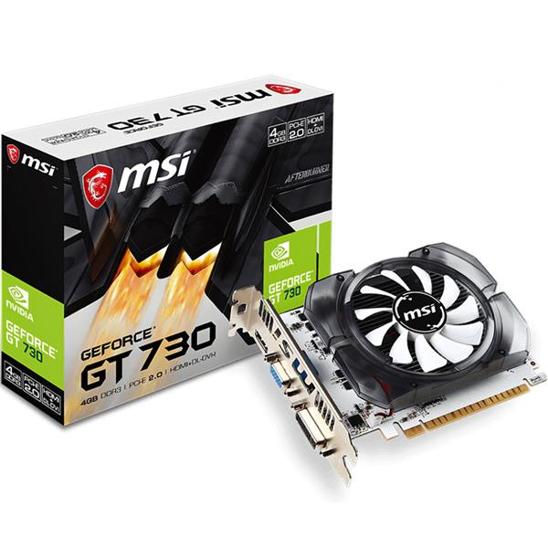 Placa de Video MSI Nvidia Geforce GT 730 4Gb Ddr3