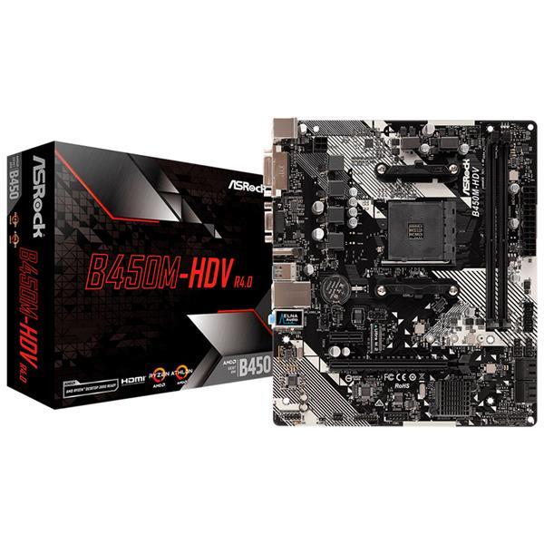 MOTHERBOARD ASROCK B450M-HDV R4.0 AM4
