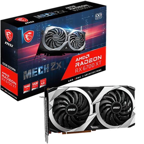 Placa de Video AMD RADEON MSI MECH 2X RX 6700 XT OC 12GB GDDR6
