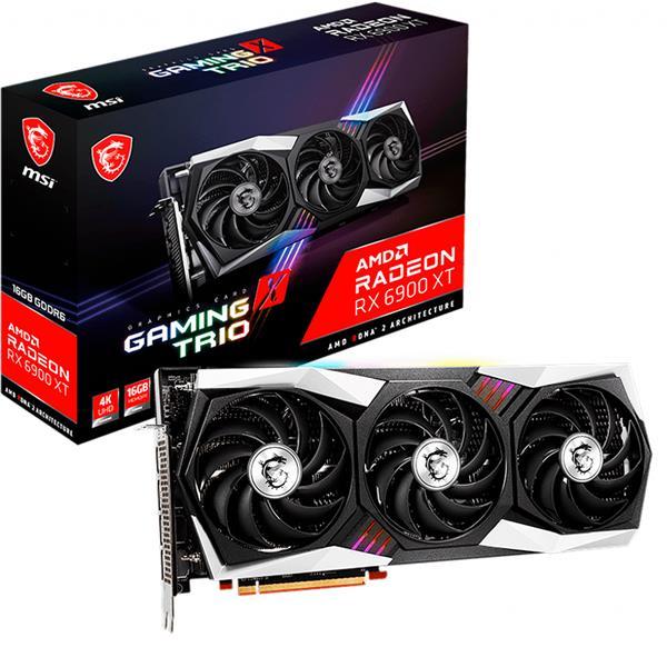 Placa de Video AMD RADEON MSI RX 6900 XT Gaming X Trio 16GB GDDR6