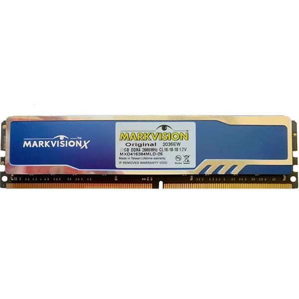 Memoria Ram Markvision 8GB 2666 Mhz Con Disipador DDR4 BULK