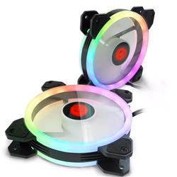 Fan Naxido RGB 120mm Anillo DUAL RGB x 2