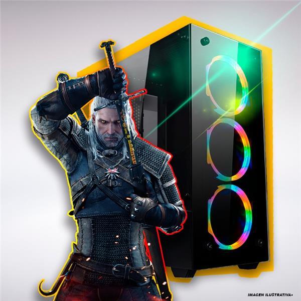 PC GAMER GAMA ENTRADA I3 10100F- H410- 8GB- 240GB SSD- 1TB- 1050TI