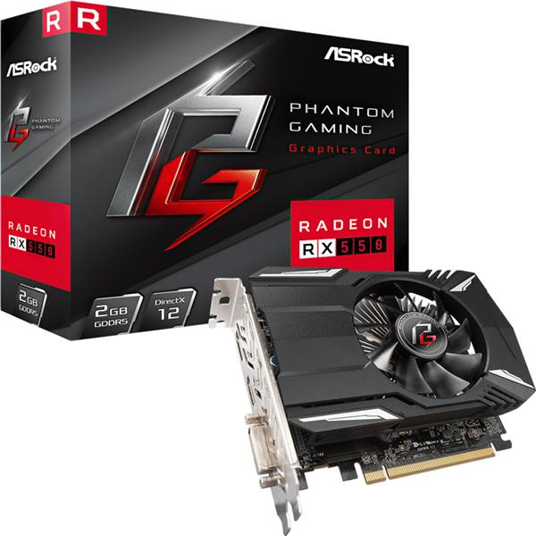 Placa de Video Asrock Rx 550 PHANTOM GAMING 2GB GDDR5