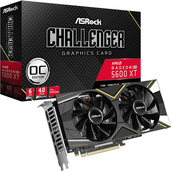 Placa de Video Asrock Rx 5600 XT CHALLENGER D OC 6GB GDDR6