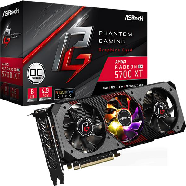 Placa de Video Asrock Rx 5700 XT PHANTOM GAMING D OC 8GB GDDR6