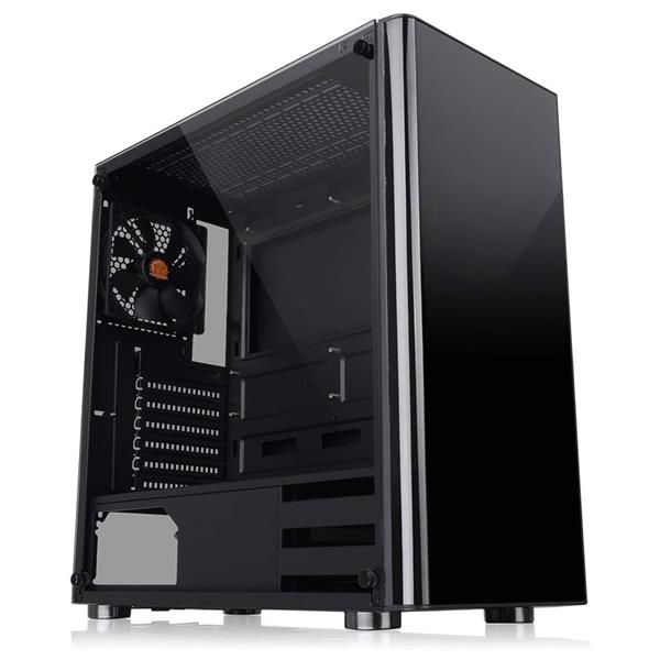 Gabinete Thermaltake V200 TG Black Window Tempered Glass